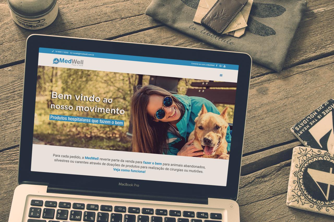 Nosso cliente Medwell  - Website & Marketing Digital