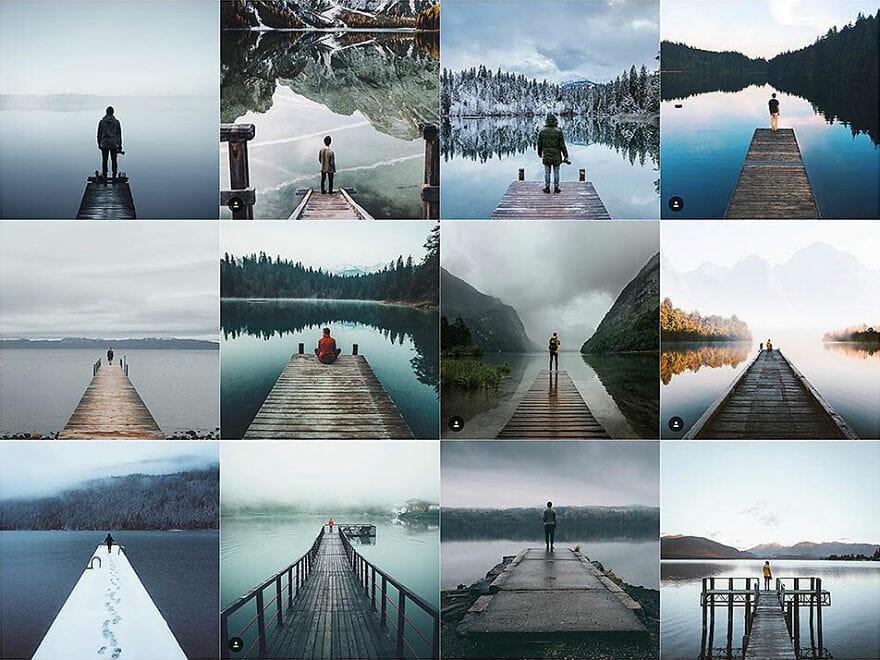 fotos iguais do instagram